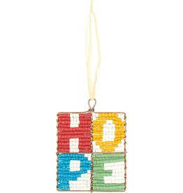 Beaded Mosaic Hope Ornament