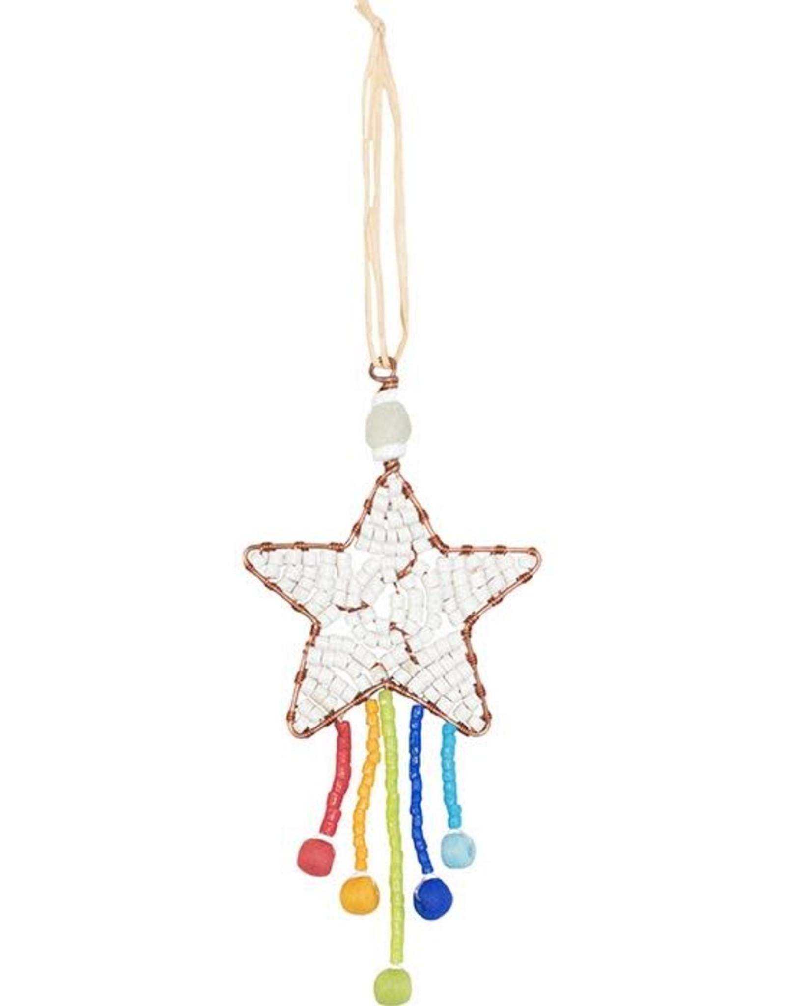 Beaded Shooting Star Rainbow Ornament