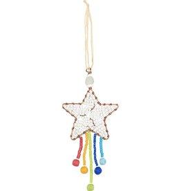 Global Mamas Beaded Shooting Star Rainbow Ornament
