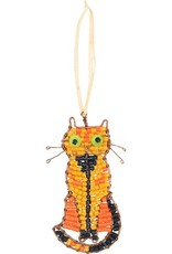 Global Mamas Beaded Tabby Cat Ornament