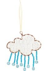 Beaded Silver Lining Ornament