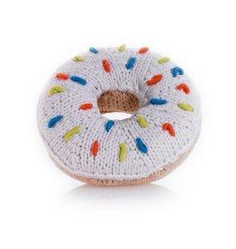 Donut Rattle White