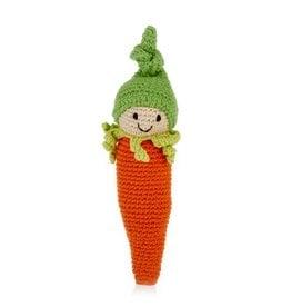 Friendly Veggie Baby Carrot Rattle