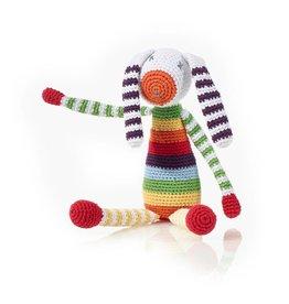 Pebble Rainbow Bunny Rattle