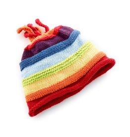 Pebble Rainbow Stripey Hat - Adult