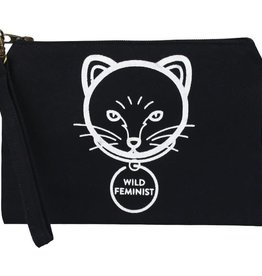 Malia Designs Statement Pouch Cat Feminist
