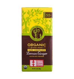 Organic Dark Chocolate Lemon, Ginger & Black Pepper (55%)