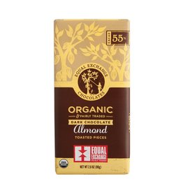 Organic Dark Chocolate Almond (55%)