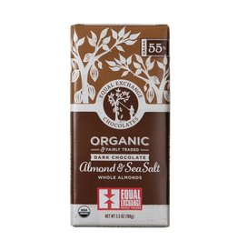 Equal Exchange Organic Dark Chocolate Whole Almond & Sea Salt 55%