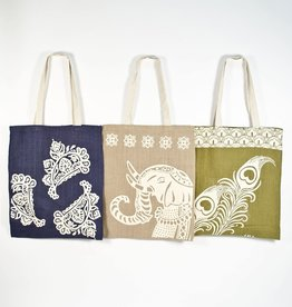 Matr Boomie Imprints of India Jute Shoppers
