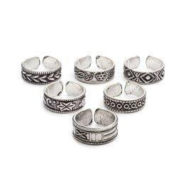 Indian Motif Toe/Midi Rings Assorted