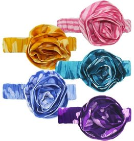 Global Mamas Babies Batik Headband Teal Blue