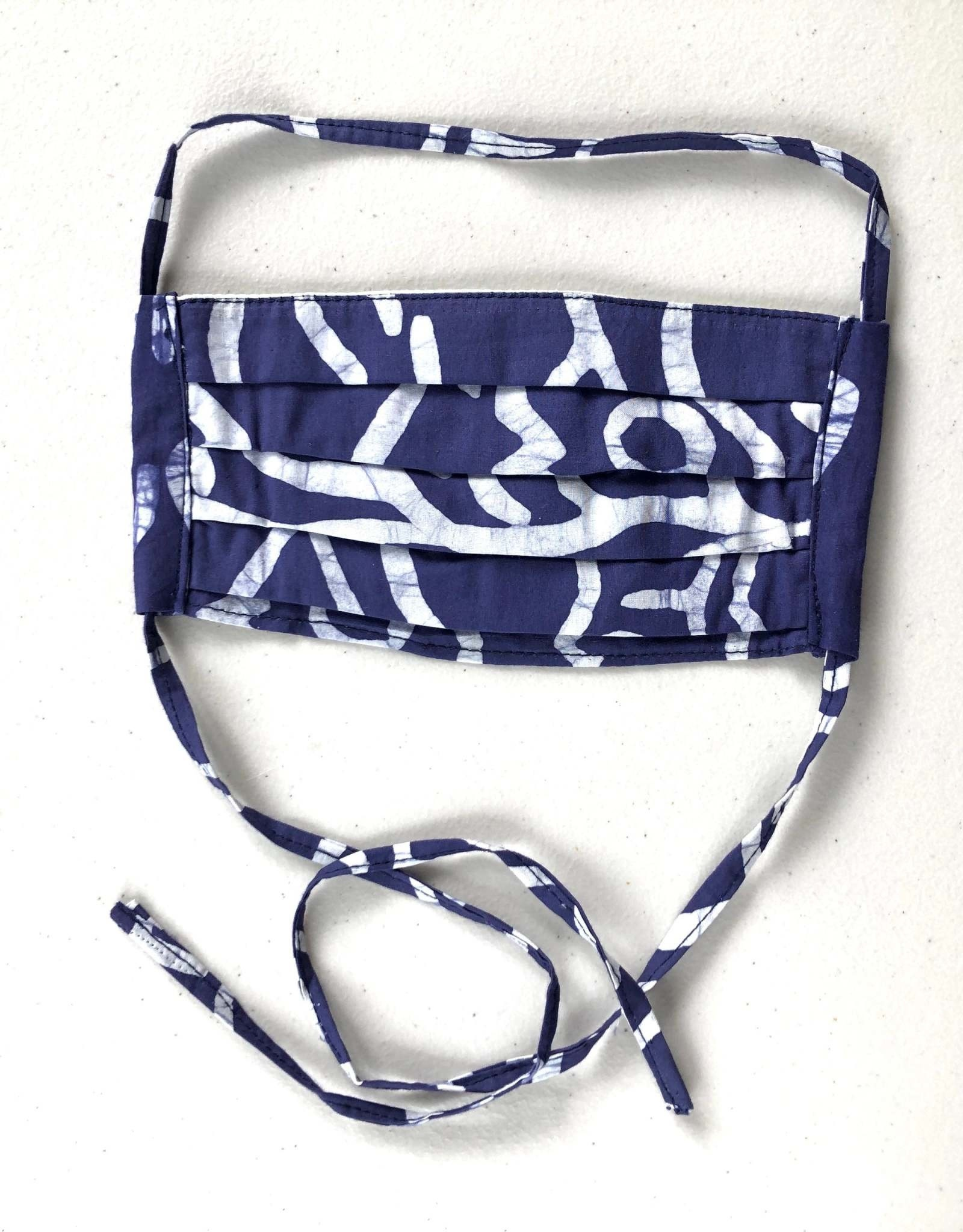 Blue Batik Face Mask Adult
