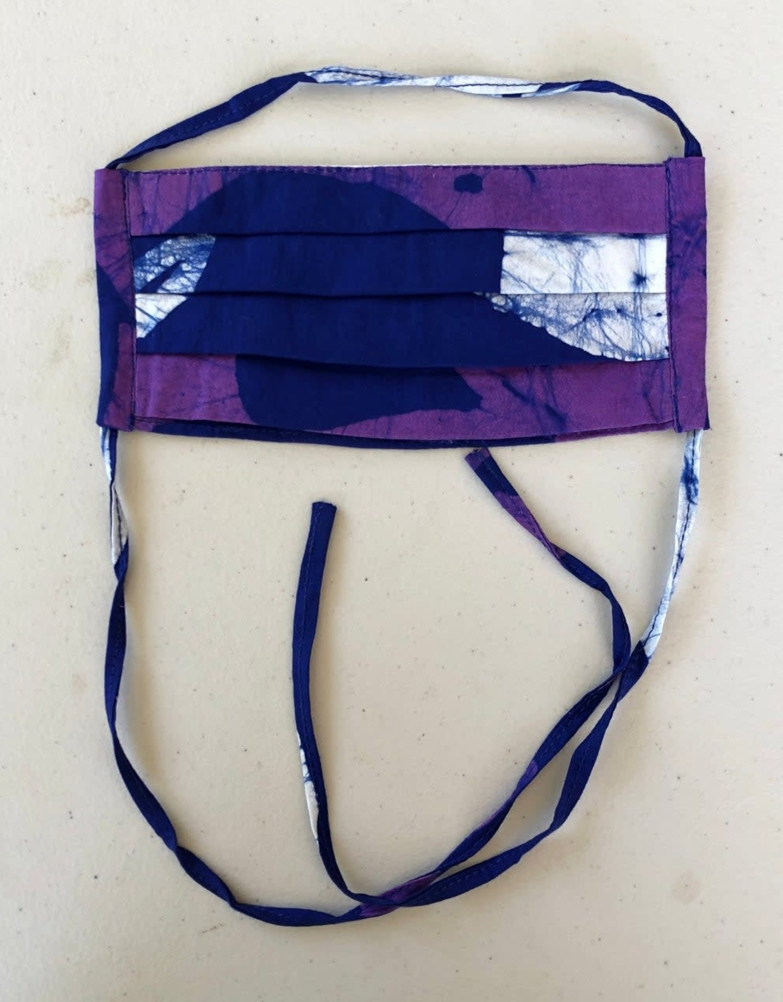 Blue Purple Batik Face Mask Adult