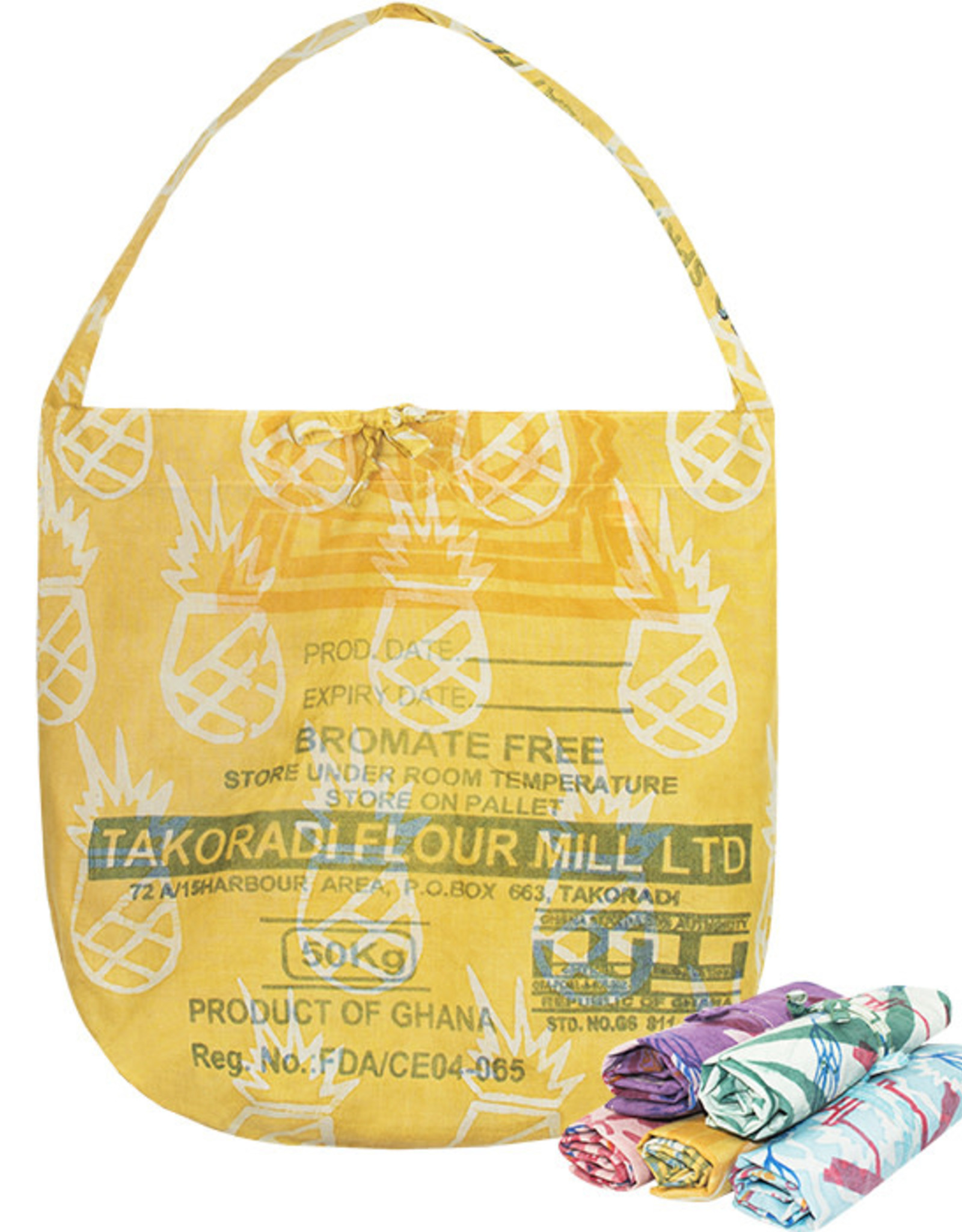 Eco-Roll-up Shopper Tote Gold