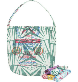 Global Mamas Eco-Roll-up Shopper Tote Green