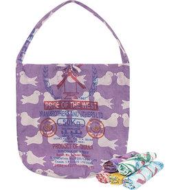 Eco-Roll-up Shopper Tote Purple
