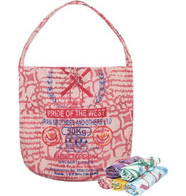 Global Mamas Eco-Roll-up Shopper Tote Red