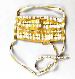 Global Mamas Gold Batik Face Mask Adult