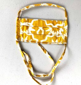 Global Mamas Gold Batik Face Mask Youth
