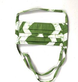Global Mamas Green Batik Face Mask Adult