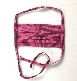 Magenta Batik Face Mask Adult