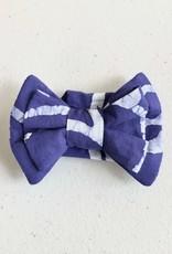 Pet Bow Tie Blue Batik