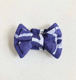 Global Mamas Pet Bow Tie Blue Batik