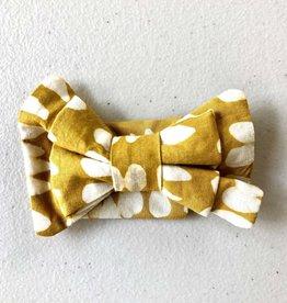 Global Mamas Pet Bow Tie Mustard Batik