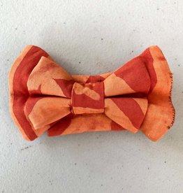 Global Mamas Pet Bow Tie Tangerine Batik