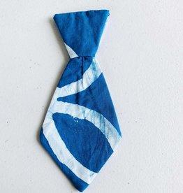 Global Mamas Pet Tie Blue Double Ring Batik