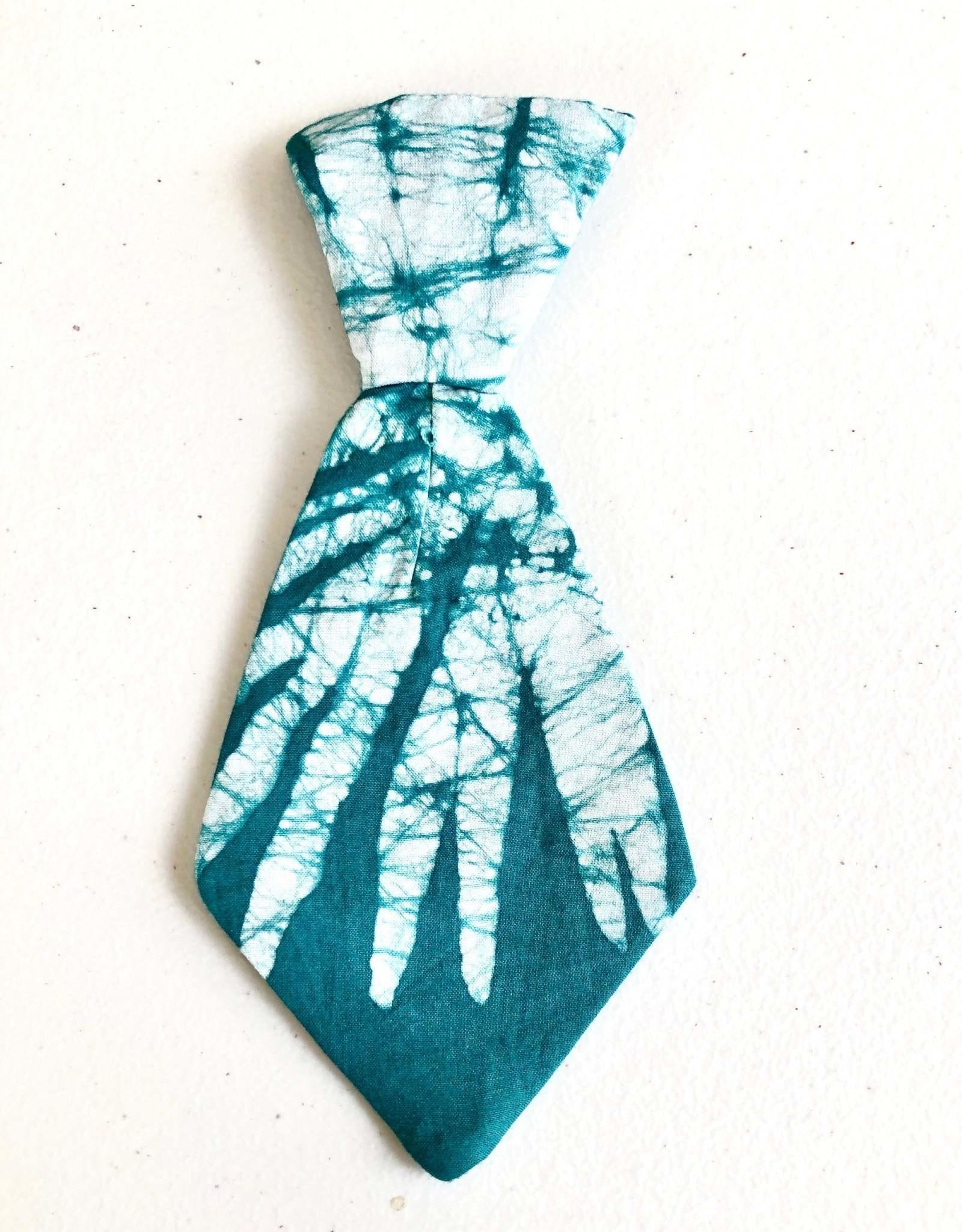 Pet Tie Green Batik