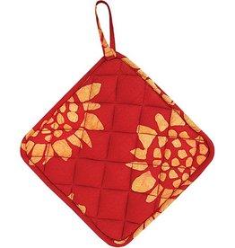 Global Mamas Pot Holder Sunflower Red