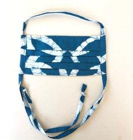 Global Mamas Royal Teal Batik Face Mask Adult
