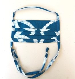 Royal Teal Batik Face Mask Adult