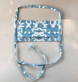 Sky Blue Chroma Batik Face Mask Adult