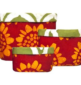 Global Mamas Stackable Bins Sunflower Red