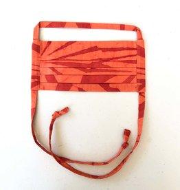 Global Mamas Tangerine Batik Face Mask Adult