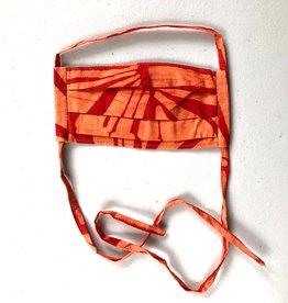 Global Mamas Tangerine Rays Batik Face Mask Youth
