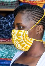 Teal Batik Face Mask Adult