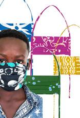 Turtles Sage Batik Face Mask Youth