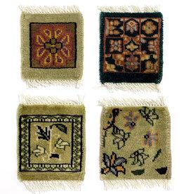 Bunyaad Pakistan Green Mug Rug Assorted Classic Designs