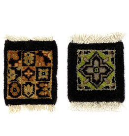 Black Mug Rug Assorted Classic Designs