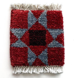 Mug Rug Block Star Barn Quilt - Red