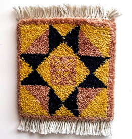 Mug Rug Block Star Barn Quilt - Peach