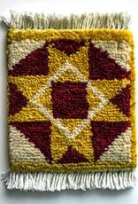 Mug Rug Block Star Barn Quilt - Yellow