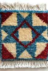 Block Star Barn Quilt Mug Rug Blue