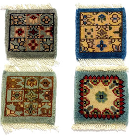 Bunyaad Pakistan Blue Mug Rug Assorted Classic Designs