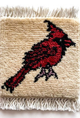 Mug Rug Cardinal - Ivory