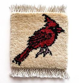 Cardinal Mug Rug Ivory